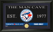 "Toronto Blue Jays ""The Man Cave"" Bronze Coin Panoramic Photo Min"