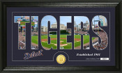 "Detroit Tigers ""Silhouette"" Bronze Coin Panoramic Photo Mint"