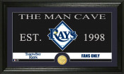 "Tampa Bay Rays ""The Man Cave"" Bronze Coin Panoramic Photo Mint"