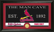 "St. Louis Cardinals ""The Man Cave"" Bronze Coin Panoramic Photo M"