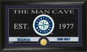 "Seattle Mariners ""The Man Cave"" Bronze Coin Panoramic Photo Mint"