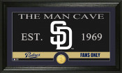 "San Diego Padres ""The Man Cave"" Bronze Coin Panoramic Photo Mint"