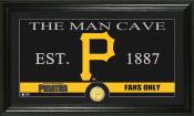 "Pittsburgh Pirates ""The Man Cave"" Bronze Coin Panoramic Photo Mi"