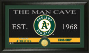 "Oakland A's ""The Man Cave"" Bronze Coin Panoramic Photo Mint 1"