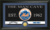 "New York Mets ""The Man Cave"" Bronze Coin Panoramic Photo Mint"