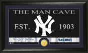 "New York Yankees ""The Man Cave"" Bronze Coin Panoramic Photo Mint"