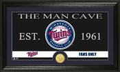 "Minnesota Twins ""The Man Cave"" Bronze Coin Panoramic Photo Mint"