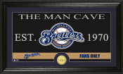 "Milwaukee Brewers ""The Man Cave"" Bronze Coin Panoramic Photo Min"