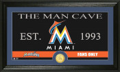 """Miami Marlins """"The Man Cave"""" Bronze Coin Panoramic Photo Mint"""