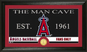 "Los Angeles Angels ""The Man Cave"" Bronze Coin Panoramic Photo Mi"