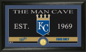 "Kansas City Royals ""The Man Cave"" Bronze Coin Panoramic Photo Mi"
