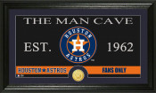"Houston Astros ""The Man Cave"" Bronze Coin Panoramic Photo Mint"