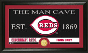 "Cincinnati Reds ""The Man Cave"" Bronze Coin Panoramic Photo Mint"