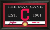 "Cleveland Indians ""The Man Cave"" Bronze Coin Panoramic Photo Min"