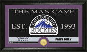 "Colorado Rockies ""The Man Cave"" Bronze Coin Panoramic Photo Mint"
