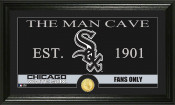 "Chicago White Sox ""The Man Cave"" Bronze Coin Panoramic Photo Min"