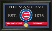 "Chicago Cubs ""The Man Cave"" Bronze Coin Panoramic Photo Mint"