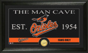 "Baltimore Orioles ""The Man Cave"" Bronze Coin Panoramic Photo Min"