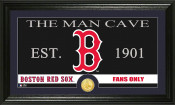 "Boston Red Sox ""The Man Cave"" Bronze Coin Panoramic Photo Mint"