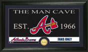 "Atlanta Braves ""The Man Cave"" Bronze Coin Panoramic Photo Mint"