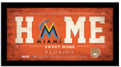 Miami Marlins Home Sweet Home Sign w/Game Used Dirt