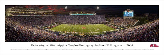 Ole Miss Rebels At Vaught Hemingway Stadium Panorama Poster