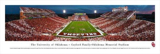 Oklahoma Sooners at Memorial Stadium Panorama Poster