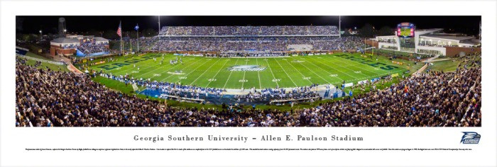 Georgia Southern Eagles at Paulson Stadium Panorama Poster