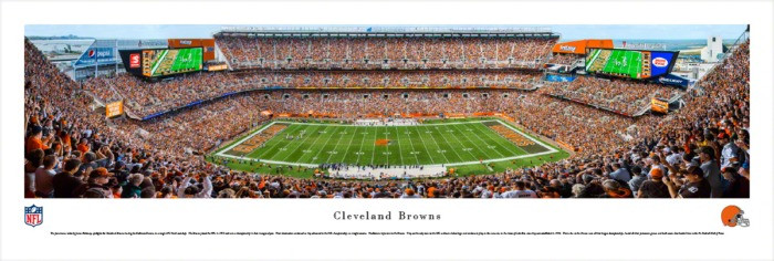 Cleveland Browns at FirstEnergy Stadium Panorama Poster