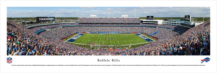 Buffalo Bills at Ralph Wilson Stadium Panorama Poster