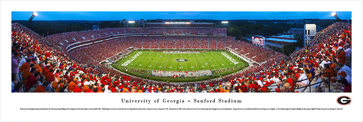 College Football Stadium Panoramic Posters