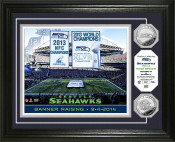 "Seattle Seahawks ""Banner Raising"" Silver Coin Photo Mint"