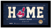 Cleveland Indians Home Sweet Home Sign w/Game Used Dirt
