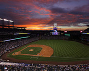 Colorado Rockies at Coors Field Sunset Photo