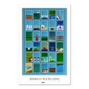 All Minimalist Ballparks Art Poster
