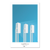 Cleveland Indians - Progressive Field Art Poster