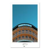Brooklyn Dodgers - Ebbets Field Art Poster