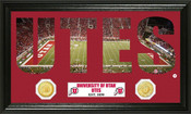 "Utah Utes ""Word Art"" Panoramic Photo Mint"