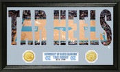 "North Carolina Basketball ""Word Art"" Panoramic Photo Mint"