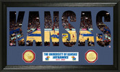 "Kansas Basketball ""Word Art"" Panoramic Photo Mint"
