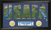 "Air Force Falcons ""Word Art"" Panoramic Photo Mint"