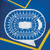 St. Louis Blues - Scottrade Center City Print