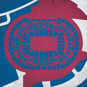 Colorado Avalanche - Pepsi Center City Print