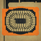 Anaheim Ducks - Honda Center City Print
