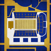 Tulsa Golden Hurricane - Skelly Field City Print