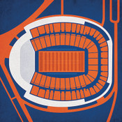 Virginia Cavaliers - Scott Stadium City Print