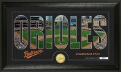 "Baltimore Orioles ""Silhouette"" Bronze Coin Panoramic Photo Mint"