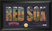 "Boston Red Sox ""Silhouette"" Bronze Coin Panoramic Photo Mint"