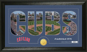"""Chicago Cubs """"Silhouette"""" Bronze Coin Panoramic Photo Mint"""