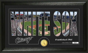 "Chicago White Sox ""Silhouette"" Bronze Coin Panoramic Photo Mint"